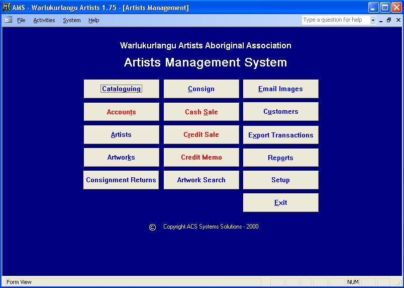 artists management system